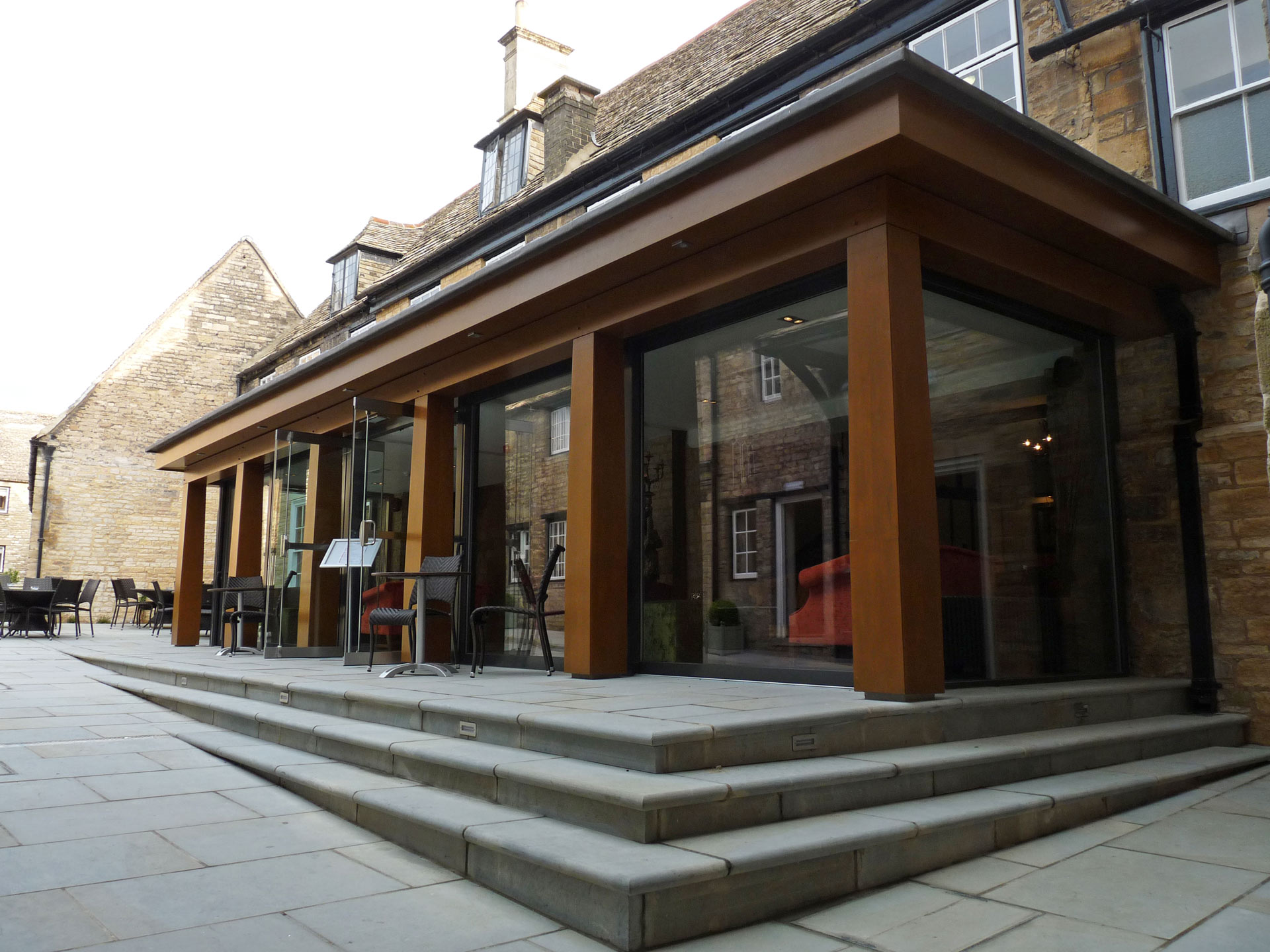 Talbot Hotel, Oundle, Courtyard Extension, Grade 1 Listed Conservation & Listed Buildings